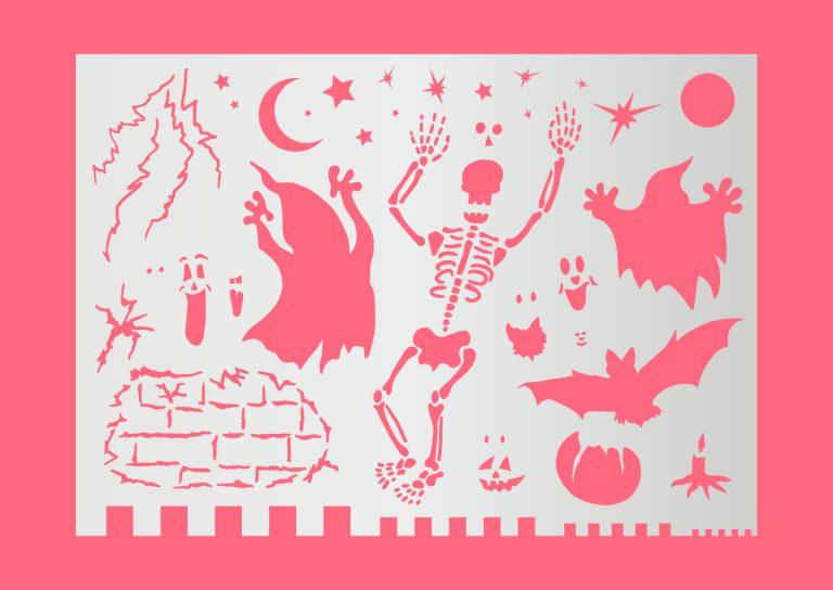 Motivschablone_Halloween